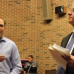 Lee Zeldin and Suffolk County Comptroller John Kennedy at Sunday's community forum.