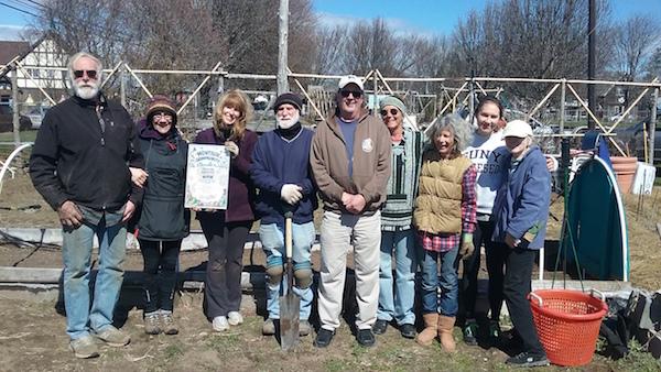 The Montauk Community Garden crew.