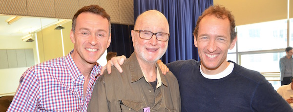 """Andrew Lippa, Jules Feiffer and Jeffrey Seller prepare for Bay Street Theatre's Production of """"The Man in the Ceiling."""""""
