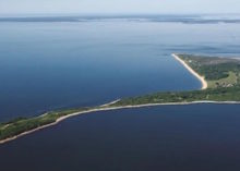 Plum Island in a Department of Homeland Security aerial photo.