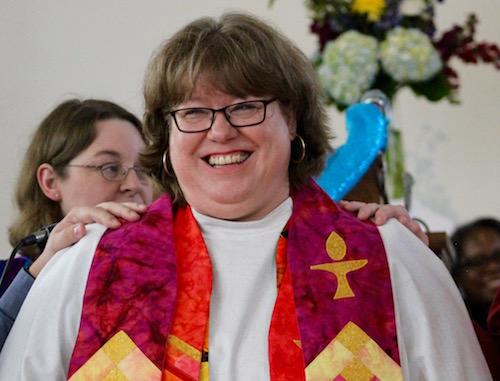 Rev. Kimberly Dubus at her ordination May 27.