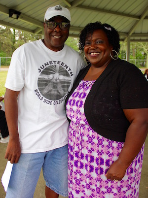 Larry Williams and keynote speaker Alethia Ford.