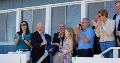 At the Tiana Bayside Marine Center grand opening June 28.