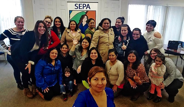 Members of SEPA Mujer at a recent meeting.  |  photo courtesy Siris Barrios