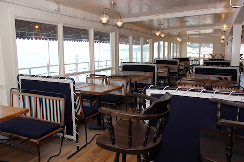 In The Halyard's revamped nautically appointed dining room