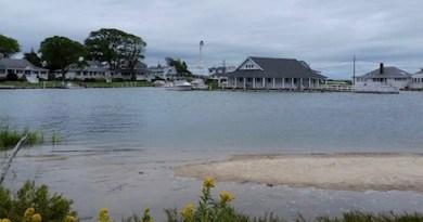 High tide Wednesday at Kimogenor Point.