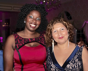 Tijuana Fulford of The Butterfly Effect Project and Siris Barrios of Riverside Rediscovered at the Oct. 5 gala.