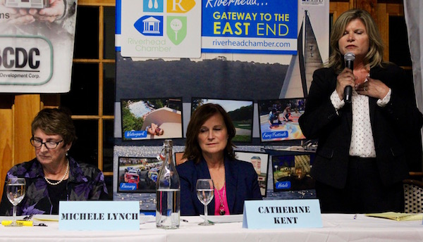 Town Board candidates Michele Lynch, Catherine Kent and Jodi Giglio at the Oct. 26 forum.