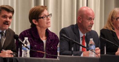 Southampton Town Board candidates TommyJohn Schiavoni, Julie Lofstad, Stan Glinka and Thea Dombrowski-Fry