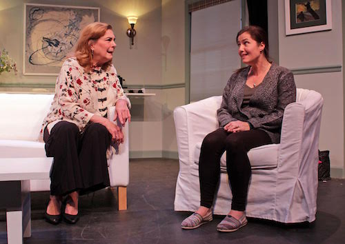 """Diana Marbury and Carolann Dipirro in HTC's new production of """"Clever Little Lies."""""""
