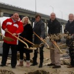 At Monday's groundbreaking for the Ponquogue pier.