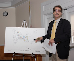 Southold Government Liaison Denis Noncarrow explained the proposal at the Southold Town Board's Dec. 19 work session.