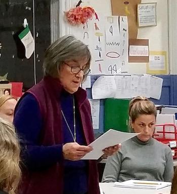 Lauren Grant read the Long Range Planning Committee's statement.