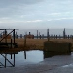 All soggy on the New Suffolk waterfront