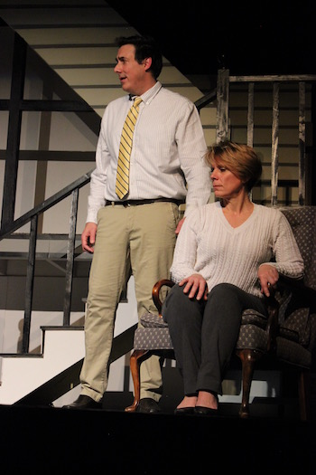 "James Stevens and Kelli Baumann in NFCT's production of ""Next to Normal"""