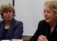 Elaine DiMasi and Kate Browning at PEER's Jan. 23 forum.