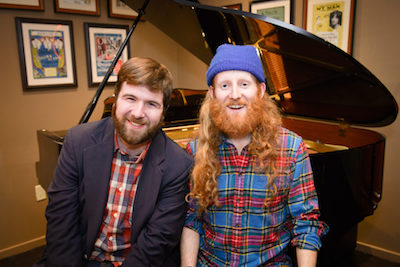 Songwriter Andrew Butler and playwright Andrew Farmer