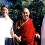 Dr. Blake Kerr, the Dalai Lama and John Ackerly in in 1987.
