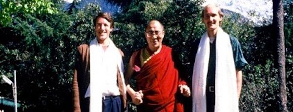 Dr. Blake Kerr, the Dalai Lama and John Ackerly in in 1987.