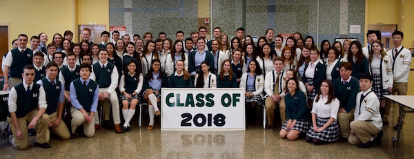Bishop McGann-Mercy High School's Class of 2018, the last class that will graduate from the Riverhead Catholic school.