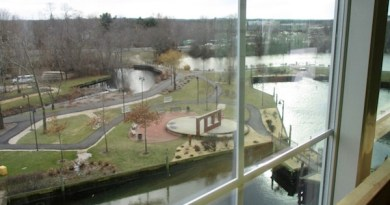 The view from an apartment at Peconic Crossing