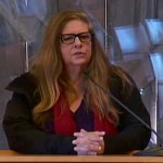 Julie Evans addressed the East Hampton Town Board on March 6.