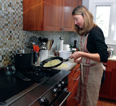 Kim Dyla (aka The Scratchiest) makes the crepes