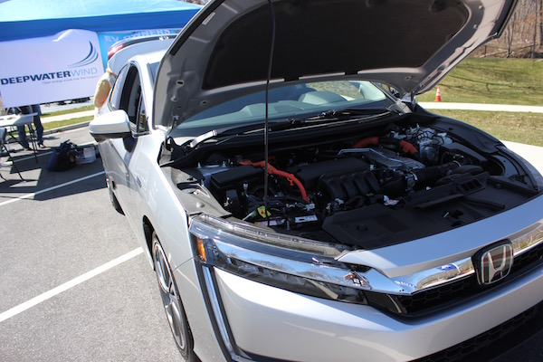 Apple Honda brought the new Honda Clarity plug-in hybrid, with a combined range of 340 miles, to Southampton Town's Electric and Hybrid Car Expo.