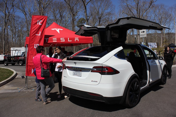 The Tesla Model X was a favorite at Southampton Town's Electric and Hybrid Car Expo