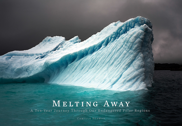 "The cover of Camille Seaman's book ""Melting Away."""