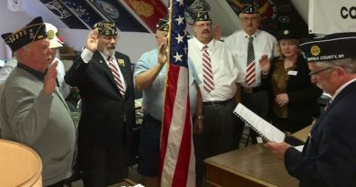 New officers of the Mattituck American Legion are sworn in on May 9. | photos courtesy Mattituck American Legion