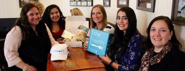 Stacy Wickham Martin, Carolina Paulino, Elizabeth Doroski, Meg Howard and Maria Vizzi are working together to share their businesses' love of the North Fork with their customers through The North Fork Box.