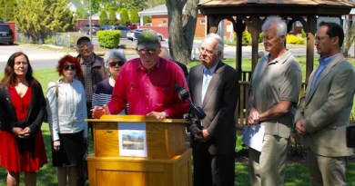 At the press conference at Riverhead Town Hall Tuesday morning.