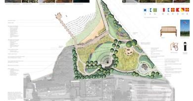 The landscape design plan for the John Steinbeck Waterfront Park