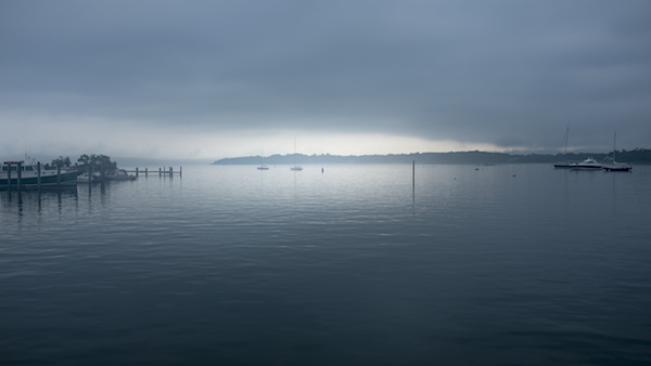 Thomas Halaczinsky's photograph of Fishers Island in the fog.