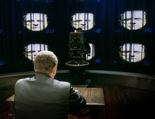 Harris Yulin as Richard Nixon, preparing to give his resignation speech.   Lenny Stucker photo for Bay Street Theatre
