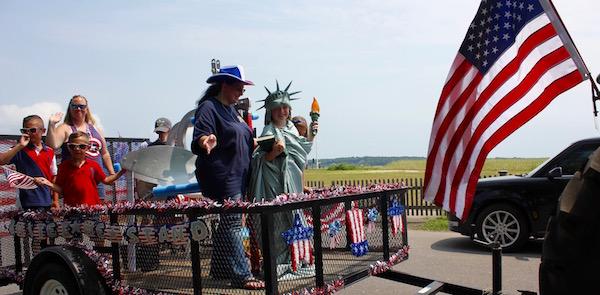 Lady Liberty at the New Suffolk parade