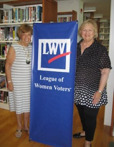 Estelle Gellman of East Hampton, left, and Susan Wilson of Southampton, co-presidents of the League of Women Voters of the Hamptons.