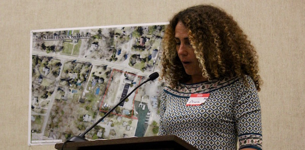 OLA Executive Director Minerva Perez speaks before the Southampton Town Board