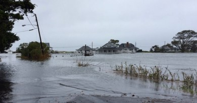 High tide, Saturday at New Suffolk's Kimogenor Point