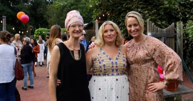 Sarah Cohen, Liza Tremblay and Amanda Fairbanks at the grand opening of The SHED