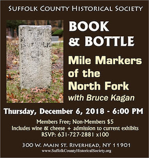 "Book & Bottle: ""Mile Markers of the North Fork"" with Bruce Kagan at Suffolk County Historical Society"