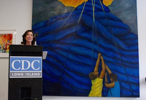 New York Lieutenant Governor Kathy Hochul at Monday's opening ceremony.