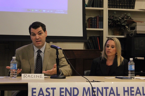 Dr. Christian Racine of Family Service League and Suffolk County Department of Mental Health Adult Services Director Jenine Yannucciello