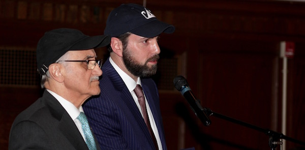 Nader Ghermezian and Stuart Bienenstock of CAT at a March public hearing on the proposed sale.