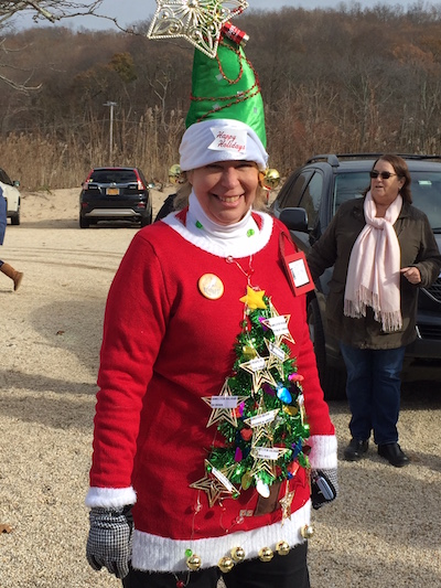 Heather Brownlie as a Shelter Island Christmas Tree