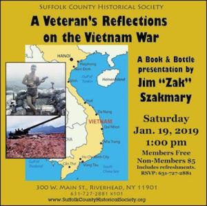 "Jim ""Zak"" Szakmary""s ""A Veteran's Reflections on the Vietnam War"" at Suffolk County Historical Society"