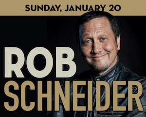 Comedian Rob Schneider performs at The Suffolk Theater