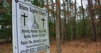 The Route 114 land East Hampton has agreed to purchase from the Triune Baptist Church for affordable housing.