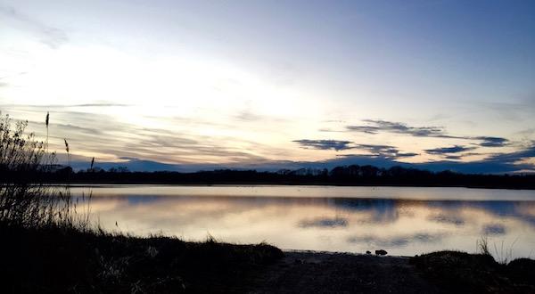 Winter Sunset, West Creek, New Suffolk